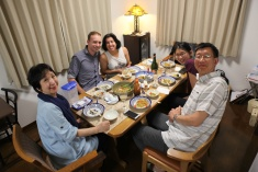 Dinner with Junichi, Makiko, Lilian and Walter