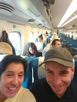 Shinkansen selfie!