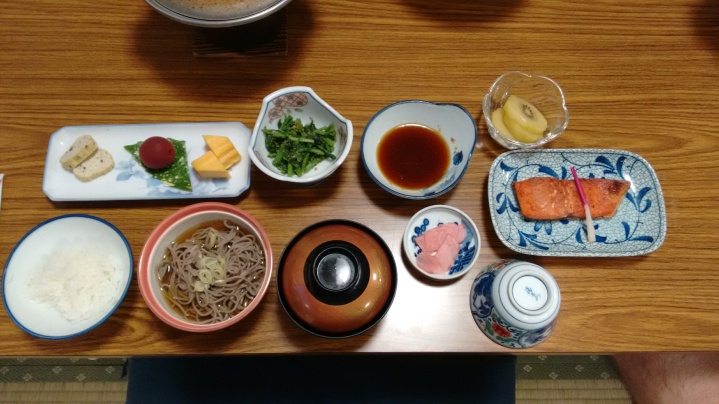 Dinner at the ryokan