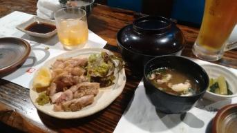 Grilled chicken with yuzu dressing