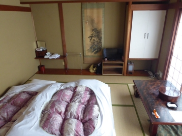 Our room in the Ryokan