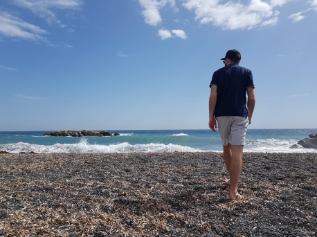 Striding to the sea