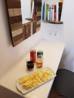 Chips and drinks