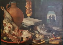 even in the day, people liked to show off what they were eating...