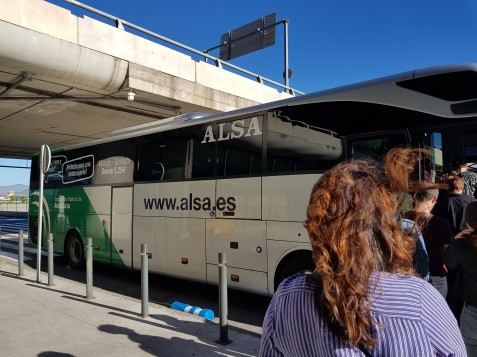 Our bus to Granada